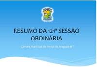 121ª Sessão Ordinária