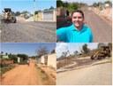 Claudio Freitas acompanha colocação de resíduos asfálticos