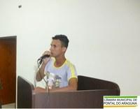 Morador usa a palavra livre para reivindicar melhorias no município
